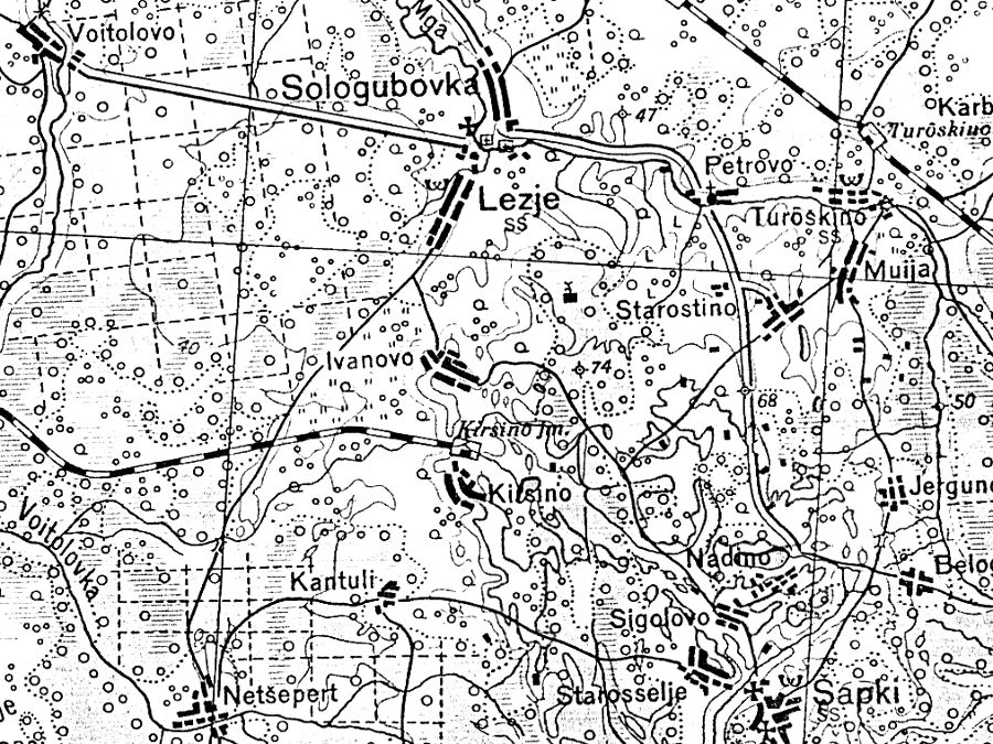 Финская карта 1936 г.