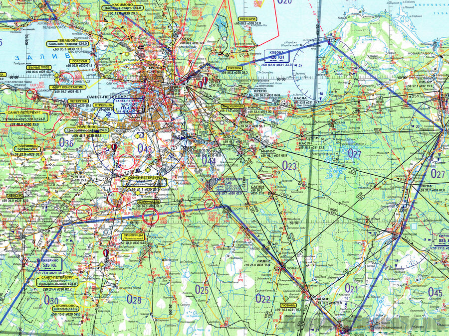 Схема захода в Пулково
